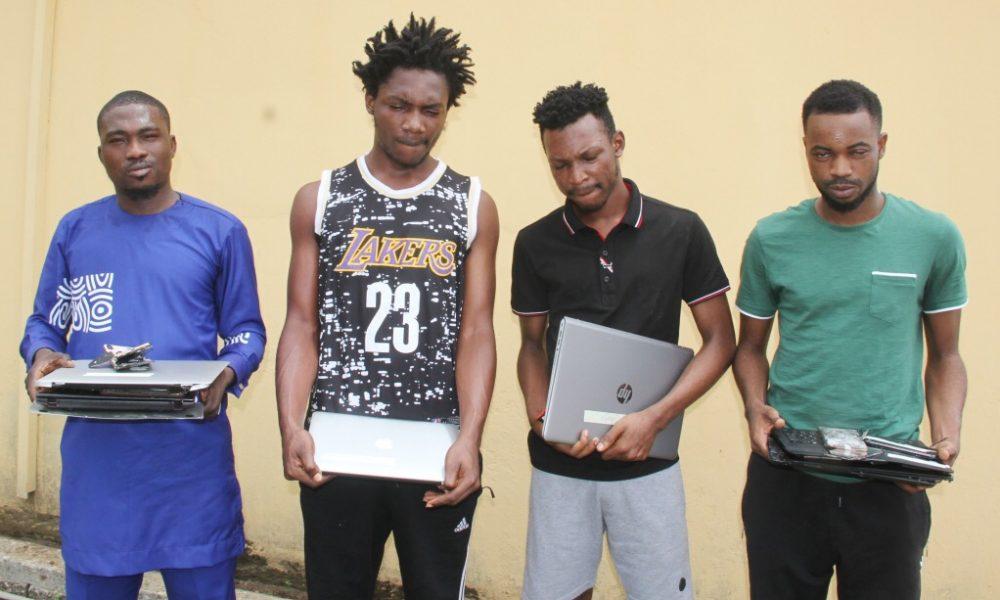 EFCC nabs more 'Yahoo boys' in Lagos, seizes jeeps [PHOTO]