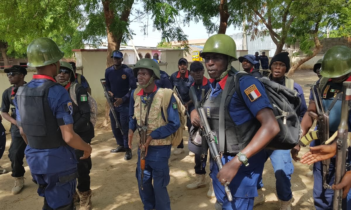 Nigeria Security And Civil Defence Corps (nscdc) Oyo State Command,  Has Seized 64 Bags Of Marijuana And Six Motorcycles At Ofiki River In Igbo Igbaye Area Of Igboora, Ibarapa Central Local Gover