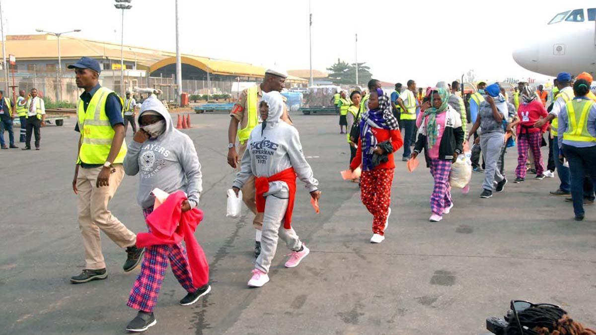 Some Nigerian Libya returnees 1 - 141 more Nigerians return from Libya