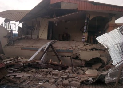 60 persons escape death as hotel collapses in Ebonyi