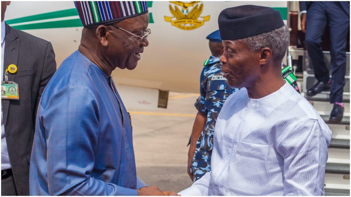 Osinbajo Ortom - Details of Osinbajo, Ortom, Igwe's closed-door meeting