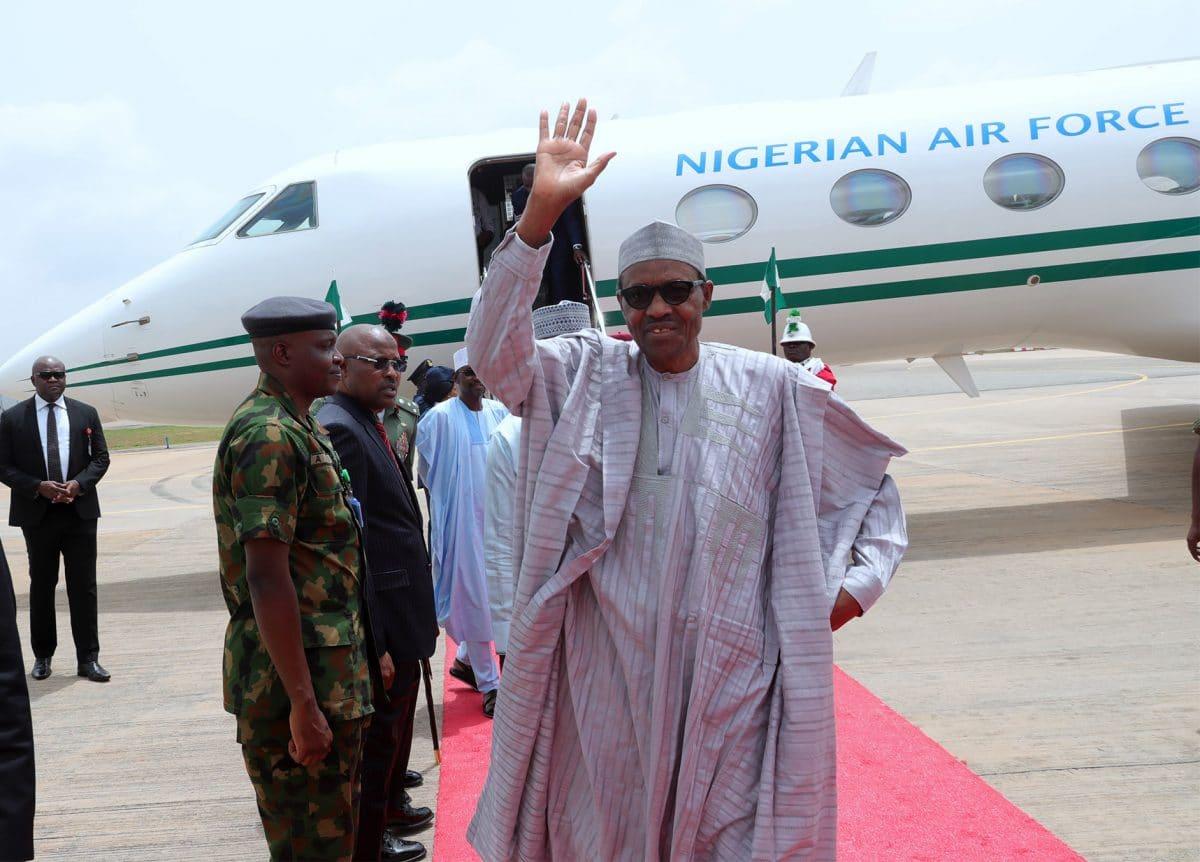 PRESIDENT BUHARI RETURNS FROM KATSINA 5 - Buhari arrives S/Africa for State Visit, Bi-National Commission meeting