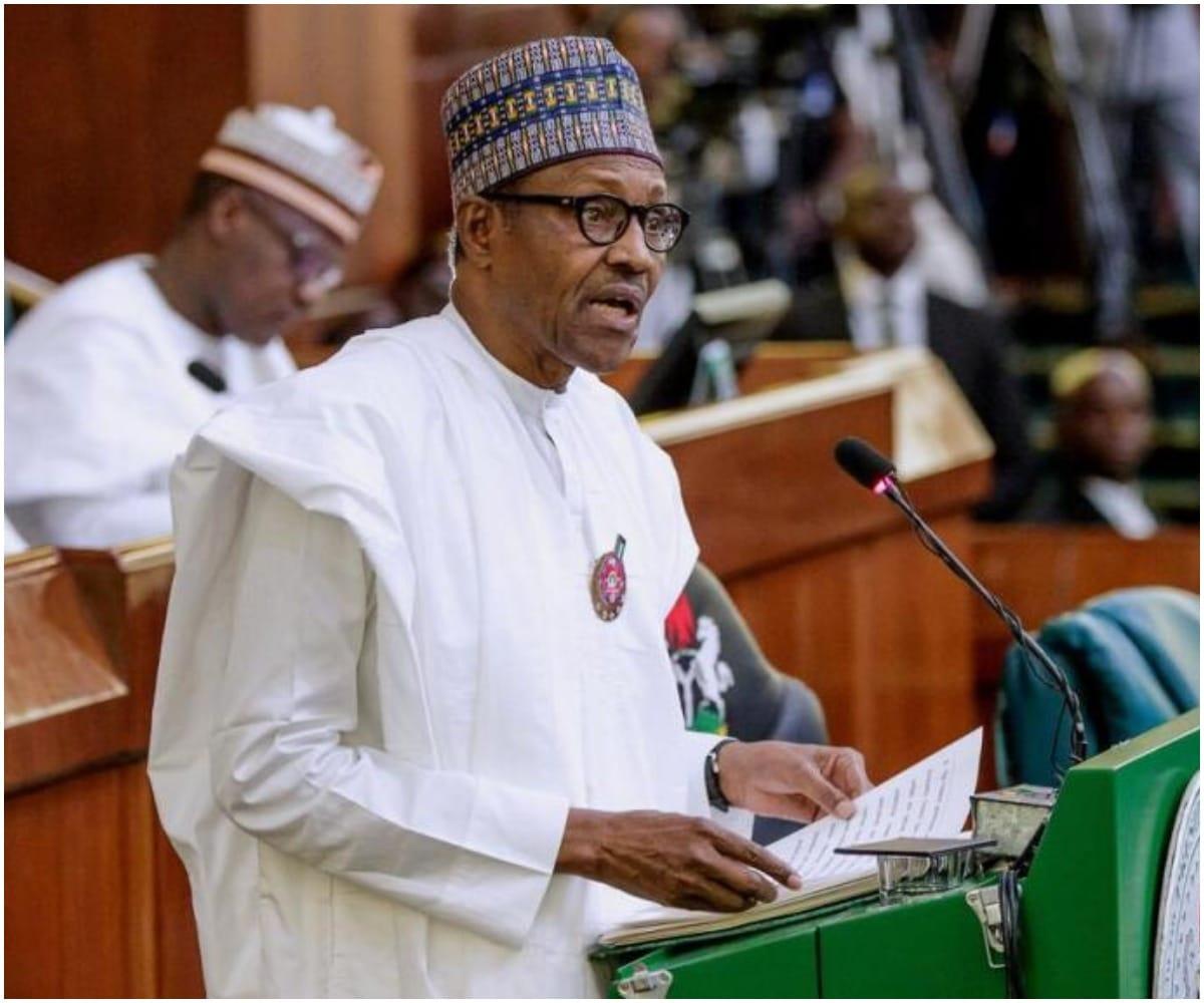 buhar - President Buhari arrives NASS, presents 2020 budget [VIDEO]