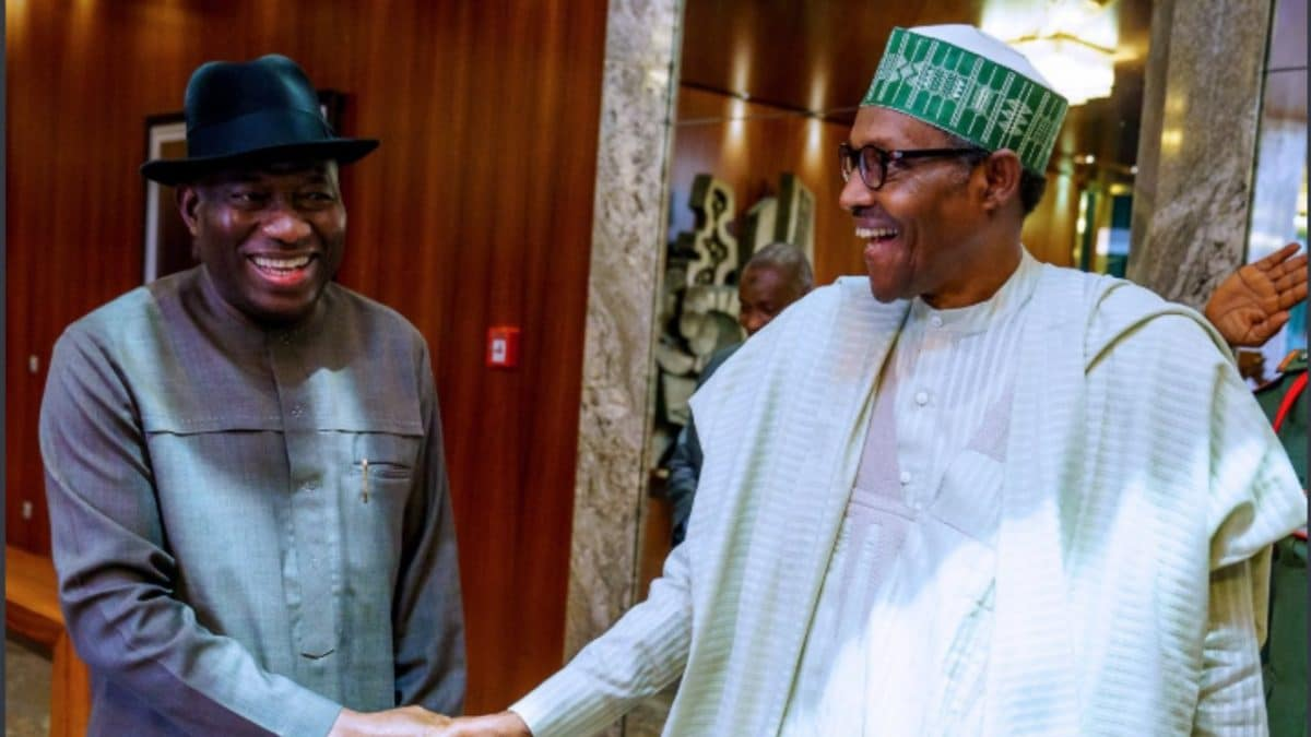 ex President Jonathan Keeps Mum After Meeting Buhari At Aso Rock