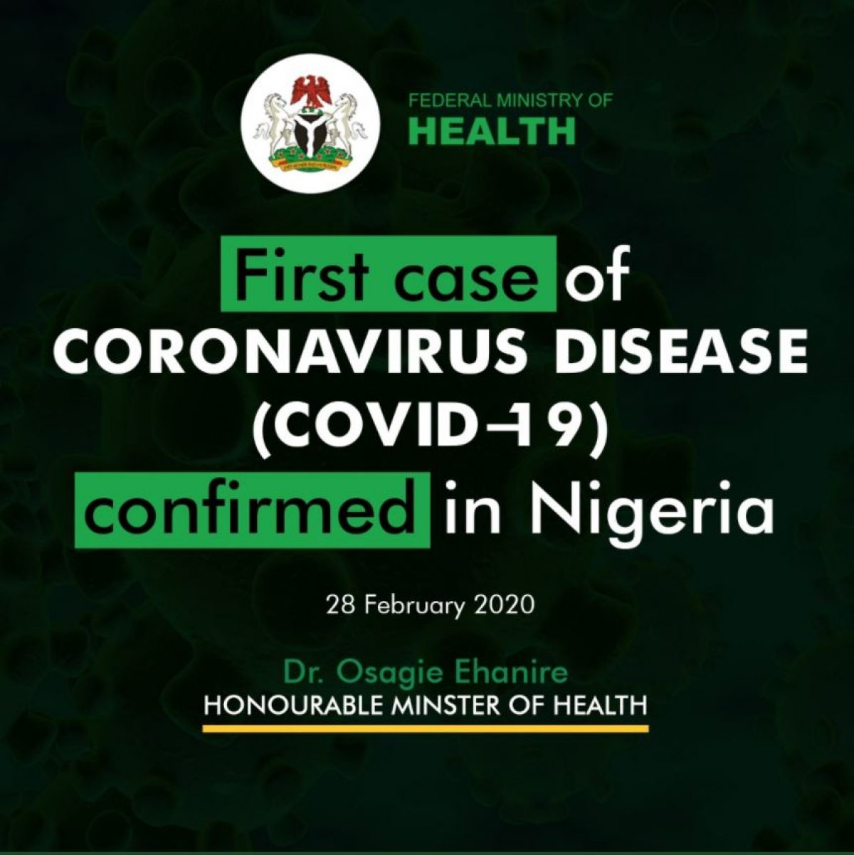 The President, G50 Initiative For Health (gif Health),  mr Oni Nelson, On Tuesday Commended The Federal Government's Efforts In Curbing The Spread Of  coronavirus (covid 19) Pandemic In Nigeria.