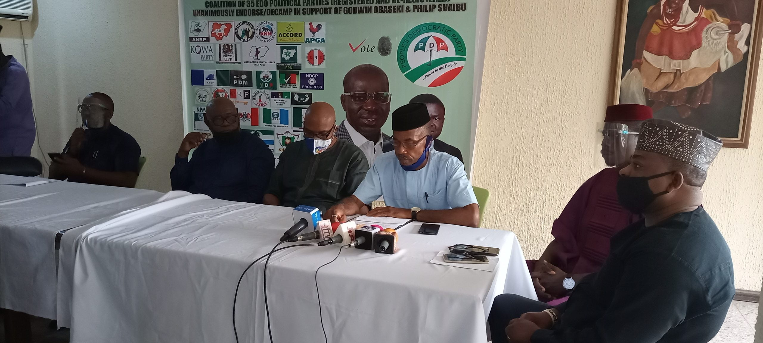 A coalition of 35 registered political parties, under the aegies of Coalition of Political Parties (CPP), in  Edo on Friday endorsed the re-election of governor Godwin Obaseki and Philip Shaibu for another four years. The Chairman of Social Democratic Party (SDP), and CPP in the state, Mr Collins Oreruan, told newsmen at a news conference […]