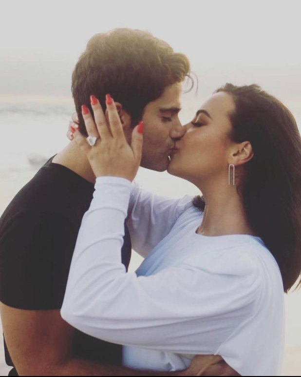 engaged - Well-liked American singer, Demi Lovato proclaims engagement to her boyfriend, Max Ehrich
