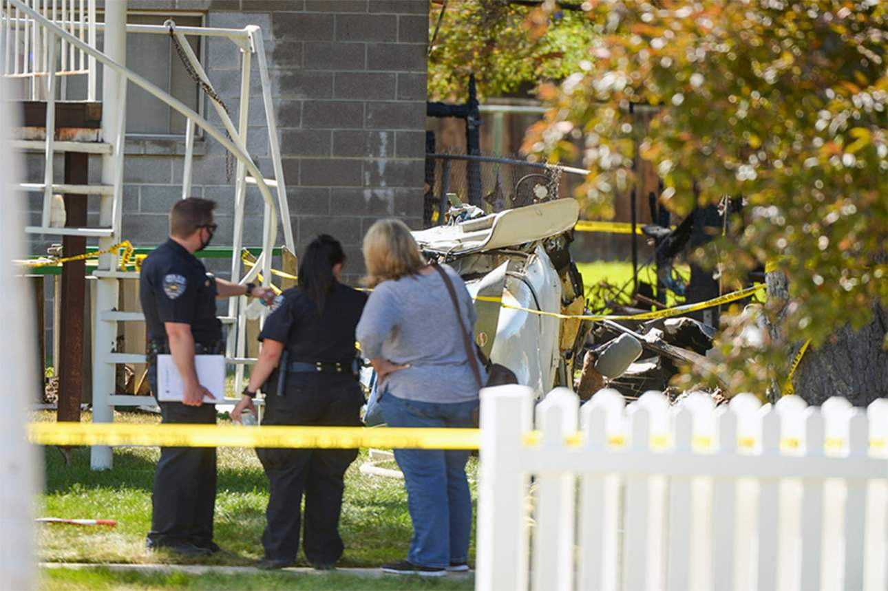 , Plane crashes into home killing 9 month old baby, 2 others dead., Effiezy - Top Nigerian News & Entertainment Website
