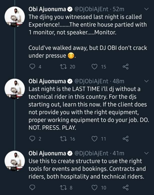 20200823 111258 - BBNaija 2020: I may have waked away - DJ Obi blasts organisers