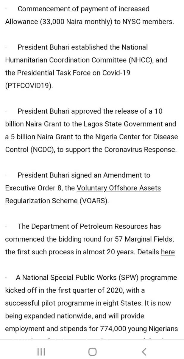 A241EB9F 362B 4574 B2BE 1E3FD73D5D62 - Buhari lists CAMA, 774,00zero jobs, NYSC allowance, others as second-term achievements [Full list]