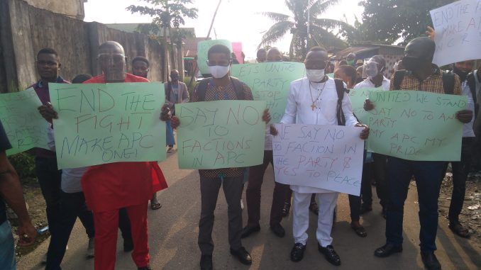 C402B2A2 592F 4E25 8DA2 2F503422B8A0 scaled - Cross River APC Crisis: Councilorship candidates stage protests, chase staff out of factional secretariats