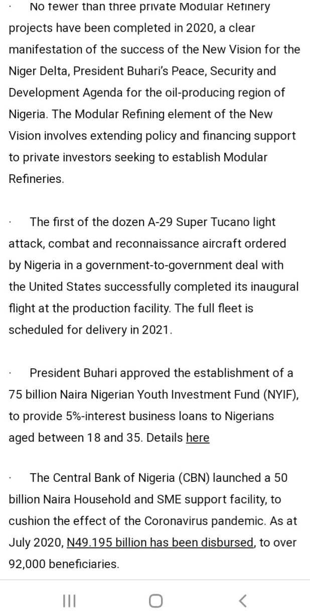 F4C71BCB 66EC 421C 8053 AD30B853961E - Buhari lists CAMA, 774,00zero jobs, NYSC allowance, others as second-term achievements [Full list]