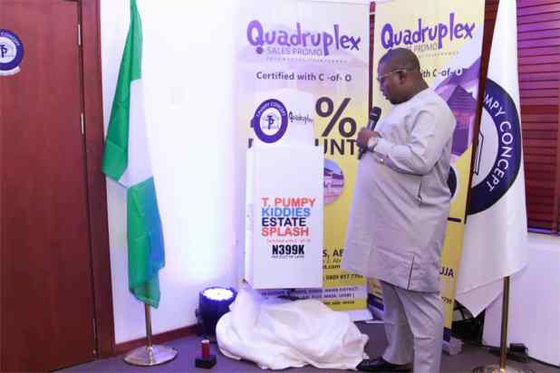IMG 20200903 WA0035 - Quadruplex: T Pumpy announces children's estate in Abuja as plot of land with C-of-O goes for N399k