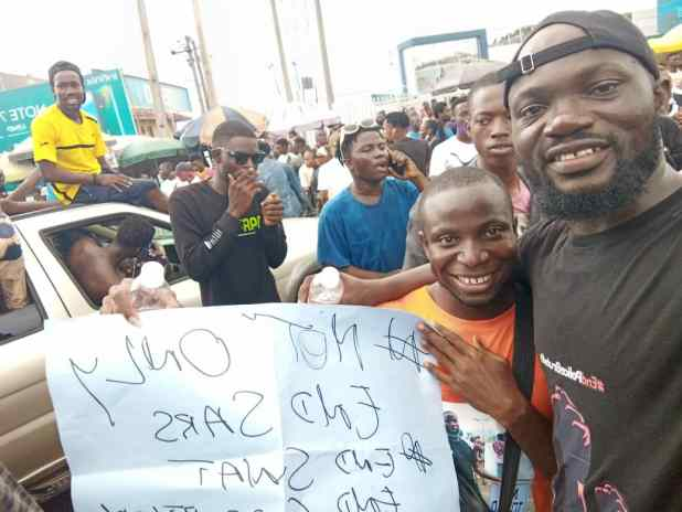 IMG 20201015 WA0045 - End SARS, SWAT: Protesters take over Ibadan roads [PHOTOS]