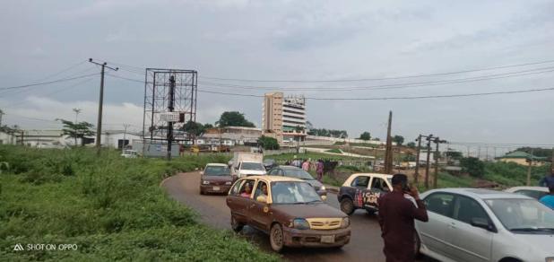 IMG 20201019 WA0014 - End SARS: Protesters block Lagos - Ibadan expressway [PHOTOS]