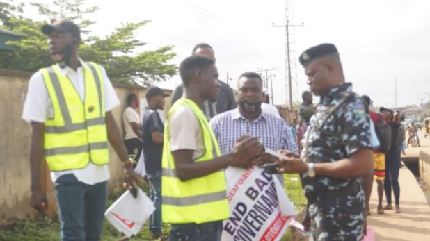 IMG 20201016 113445 1024x576 - End SARS: Protest escalates, takes another dimension in Ogun [PHOTOS]