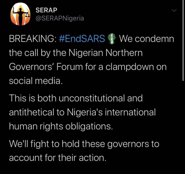 IMG 5808 - End SARS: Call for social media censorship unconstitutional, antithetical to human rights - SERAP