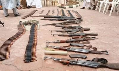 Zamfara: Son of late bandit leader surrenders 30 AK-47 rifles, 2 rocket launchers, others