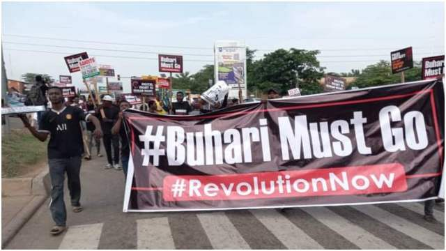 Buhari Must Go' protesters shut down Abuja [PHOTOS] - Daily Post Nigeria