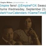 Empire Season 2 Premiere Date Set on September 23 on FOX