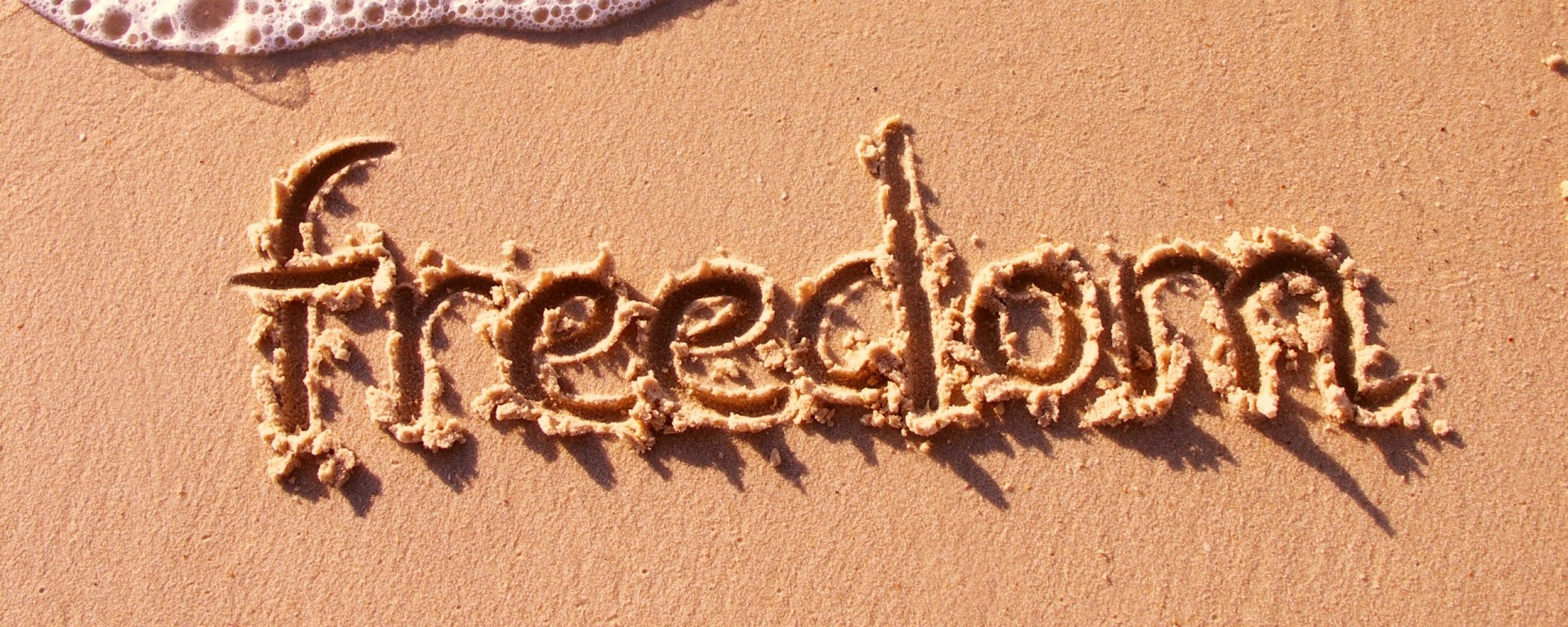 freedom in the sand