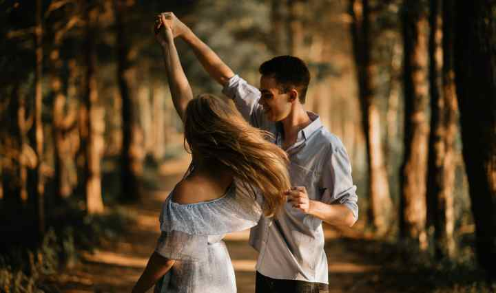 Husbands lead your wife in a dance (and wives follow his lead), don't just dance individually beside each other.