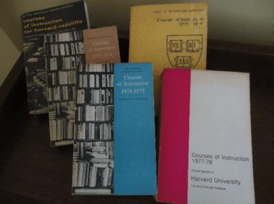 Harvard course catalogs