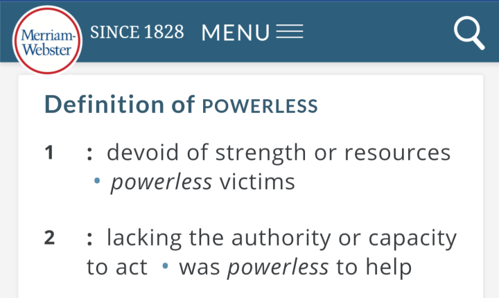definition of powerless - 30 days sober