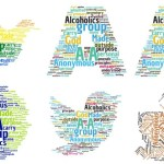 92 Days Sober Word Clouds of the 12 Steps and 12 Traditions of AA