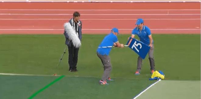 Javelin Thrower Nails 75m Marker at 2014  European Athletics Championships