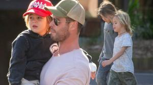 Chris Hemsworth spotted along with his kids in Byron Bay