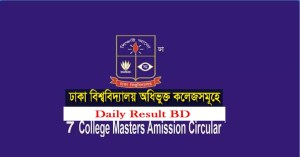 DU 7 College Masters Admission Notice Result 2015-2016