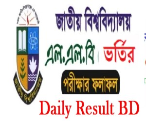 National University LLB Admission Result 2019-2020 Notice