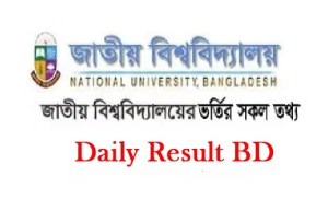 National University Admission Migration Quota Result Online