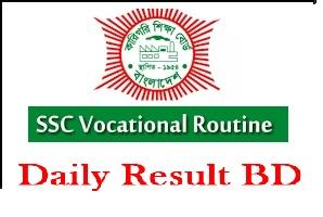 Vocational Exam Routine 2020 BTEB SSC Routine Download PDF