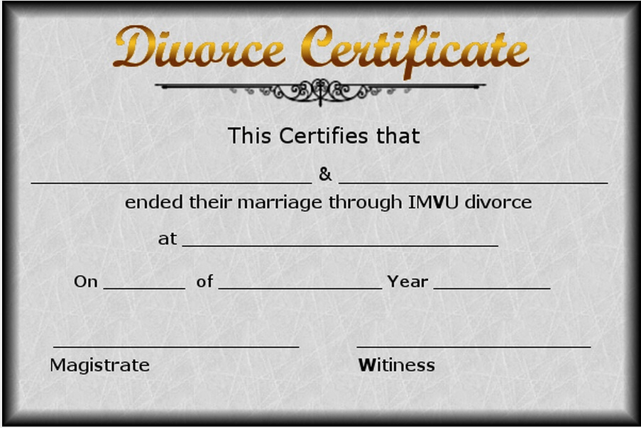 Doc.#700934: Divorce Papers Template – Divorce Forms Free Word ...