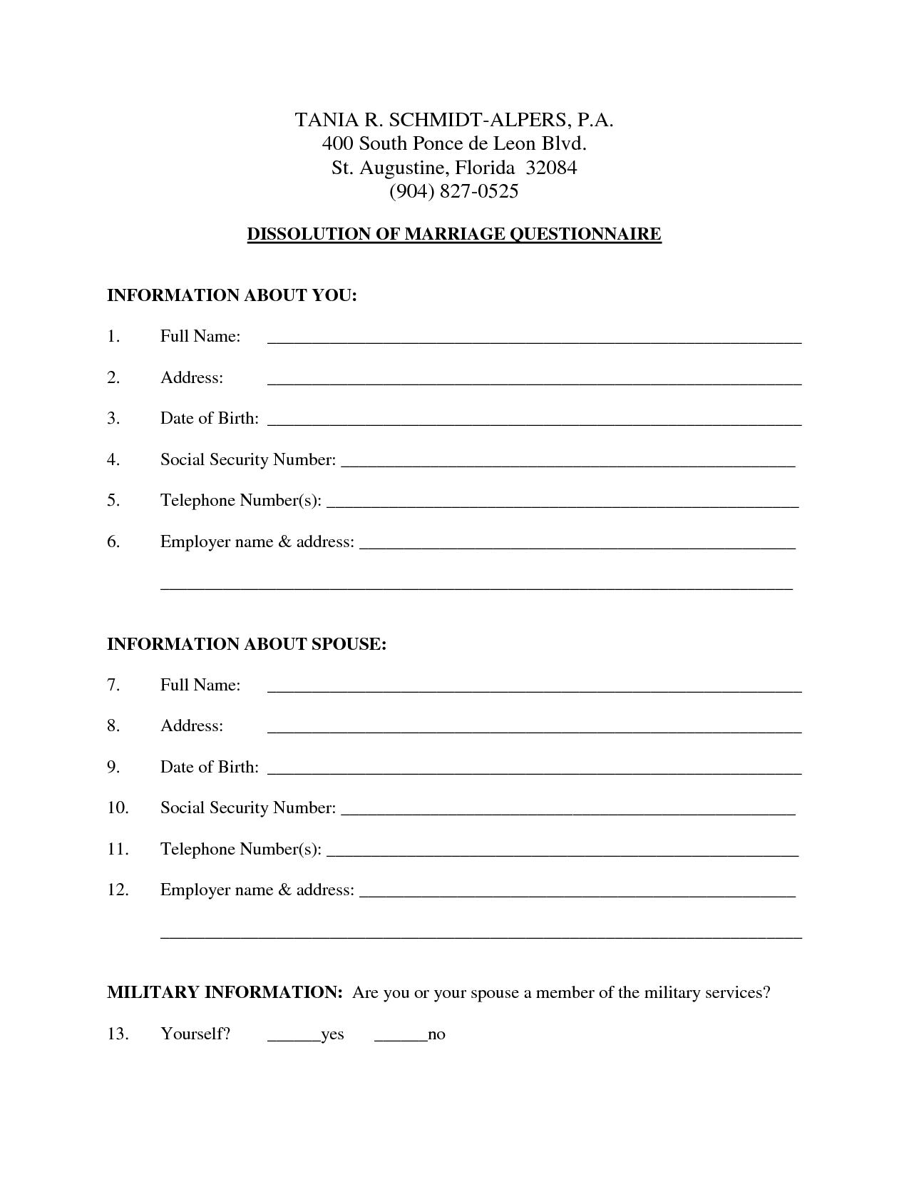 Free Printable Nj Divorce Forms That Are Refreshing