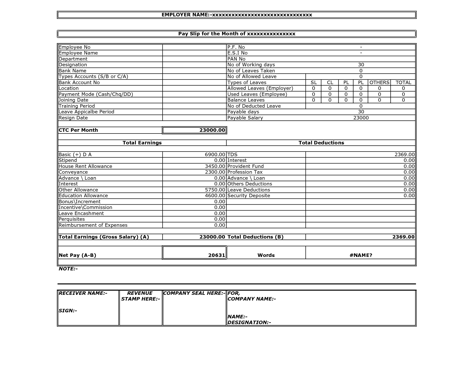 payslip nuq pty ltd wage slip template excel get salary slip – Salary Slip Format for Contract Employee