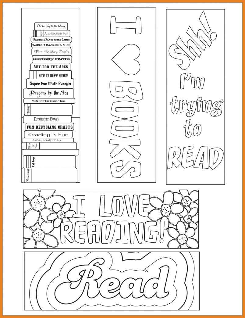 Beautiful Bookmark Template Collection Daily Roabox Daily Roabox