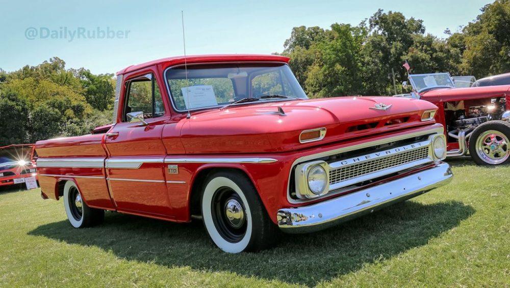 Red 1966 Chevrolet C10