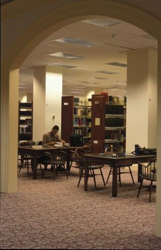 The first floor of Regent University's library, Virignia Beach, VA (Regent University).