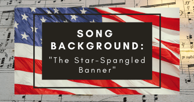 """Song Background: """"The Star-Spangled Banner"""""""