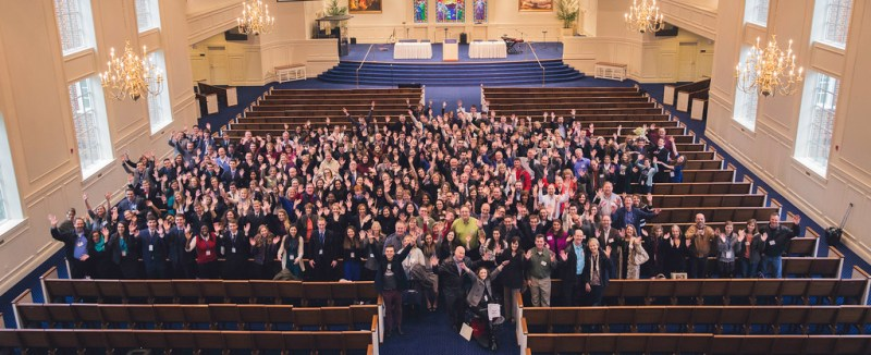 Group photo of parents and scholars in the Chapel, Virginia Beach, VA, Feb. 3, 2017. (Elisa Sosa)