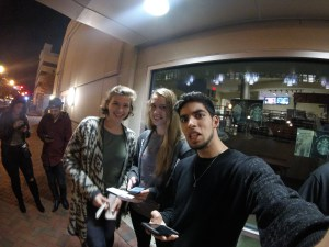 Left to Right: Emily Kirk, Quinn Ricks, Joél Casanova, Norfolk, Nov. 2017. (Joél Casanova)