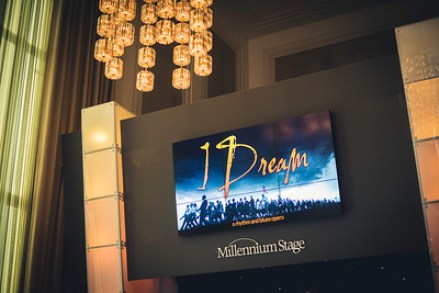 """A promo image for """"I Dream"""" in the Kennedy Center in Washington, D.C. Feb. 2, 2016. (Patrick Wright)"""