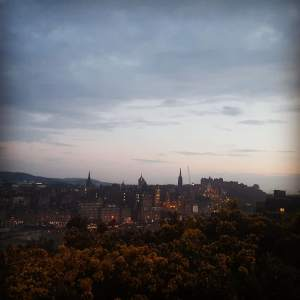 View from Calton Hill in Edinburgh, Scotland. June. 2018. (Kathryn Funk)