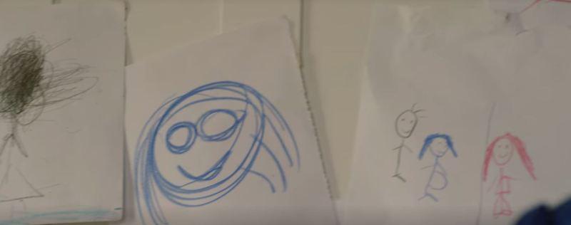 The Maid crayon drawing