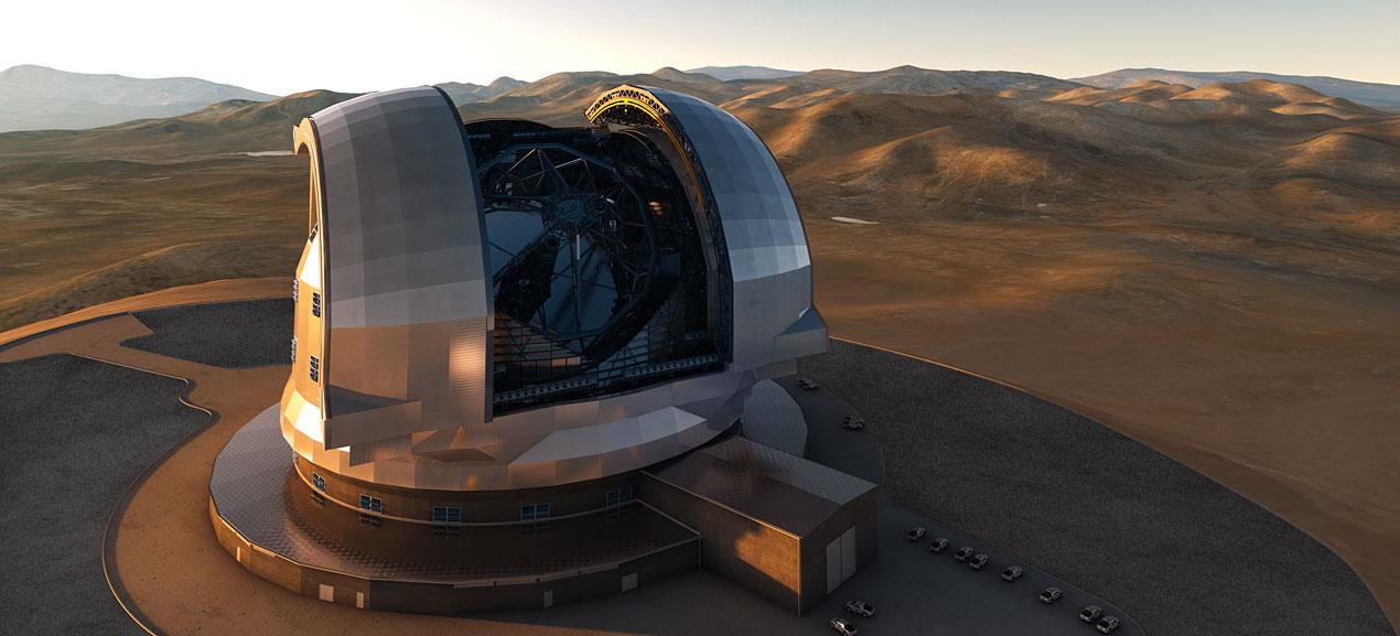 """Le télescope """"extrêmement grand"""" européen, EELT, sera implanté dans le désert d'Atacama au Chili. © ESO"""
