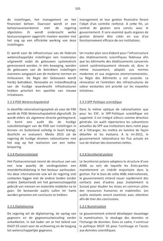 Accord de gouvernement 2014 Politique Scientifique (3)