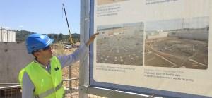 Chantier de construction du bâtiment principal d'ITER (mai 2015), à Cadarache, dans le sud de la France.